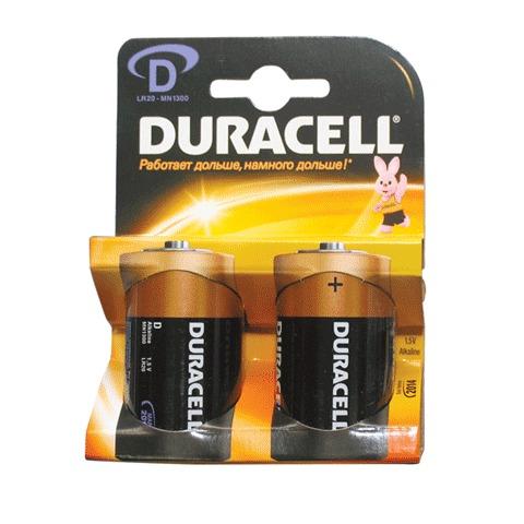Батарейка (поштучно) LR20, 1.5В 2шт/уп (DURACELL)