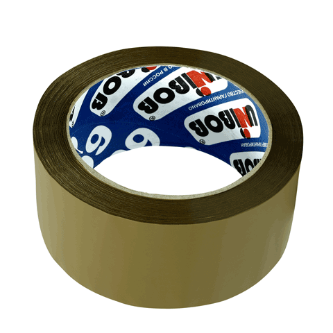 Скотч упаковочный 48х66м, коричневый, 45мкм (UNIBOB)