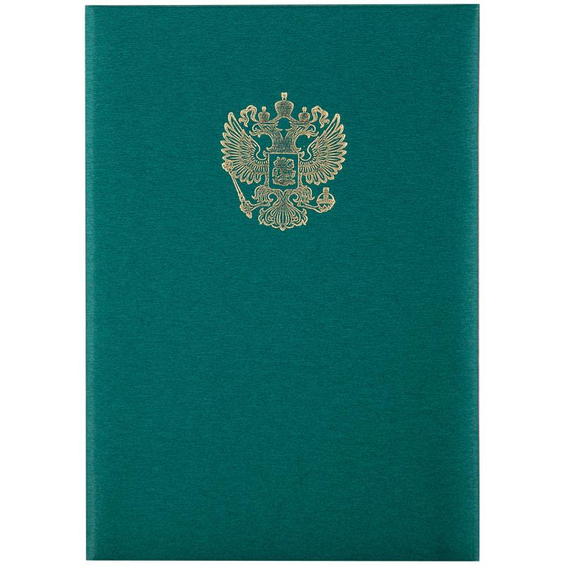 "Папка адресная ""Герб"", балакрон, зеленая (OfficeSpace)"