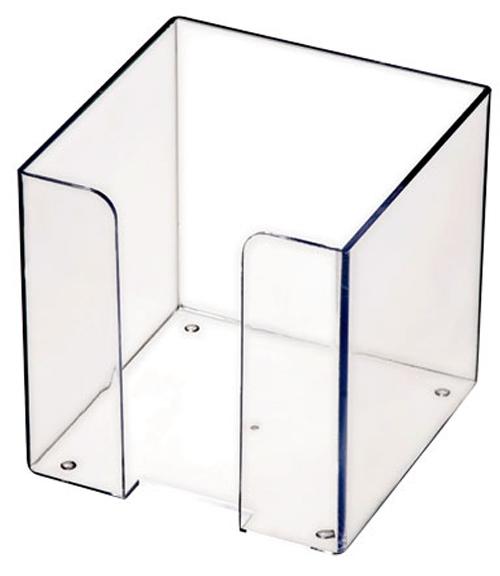 Бокс для бумажного блока 9х9х9см, прозрачный 12шт/уп (Стамм)