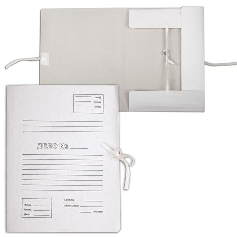 Папка д/бумаг с 4-мя завязками, 370гр/м2, белая (32х23х4см)