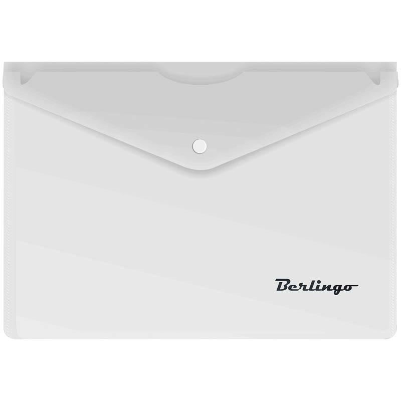 Папка-конверт на кнопке A5, матовая, 180мкм 10шт/уп (Berlingo)