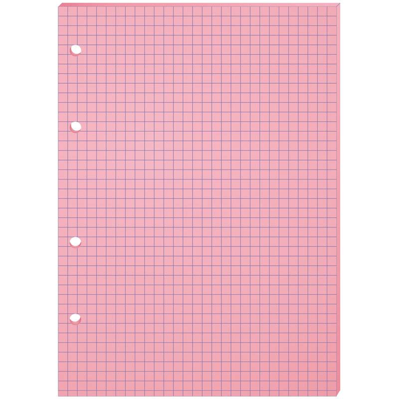 Сменный блок д/тетрадей А5, 80л, розовый, 4 отверстия