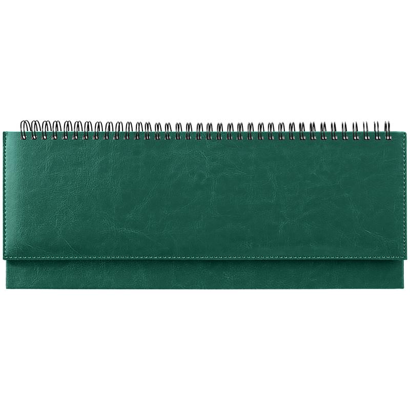 "Планинг недатированный 56л, 330х130мм, кожзам, зеленый ""Nebraska"" ( OfficeSpace)"