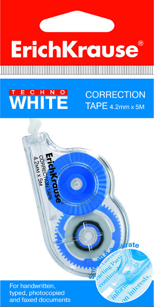 "Штрих-лента 4,2х5м, ""Techno White Mini"" 24шт/уп (ERICH KRAUSE)"