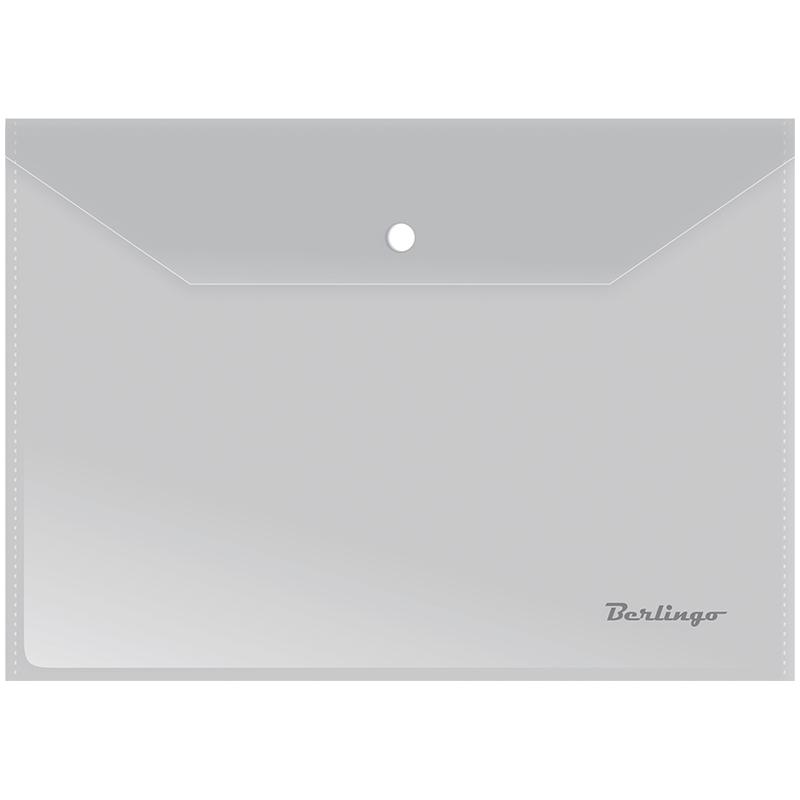 Папка-конверт на кнопке А4, матовая, 180мкм, 10шт/уп (Berlingo)