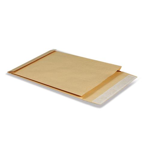 Конверт-пакет объемный (229х324х40мм) крафт, отрывная полоса, на 250 листов