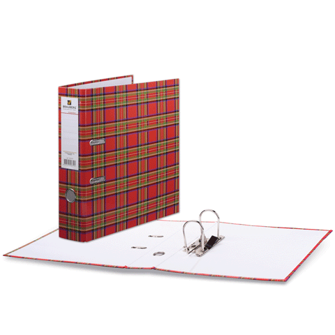 """Папка-регистратор 75мм, ламинированная """"Шотландка"""" 24шт/уп (BRAUBERG)"""