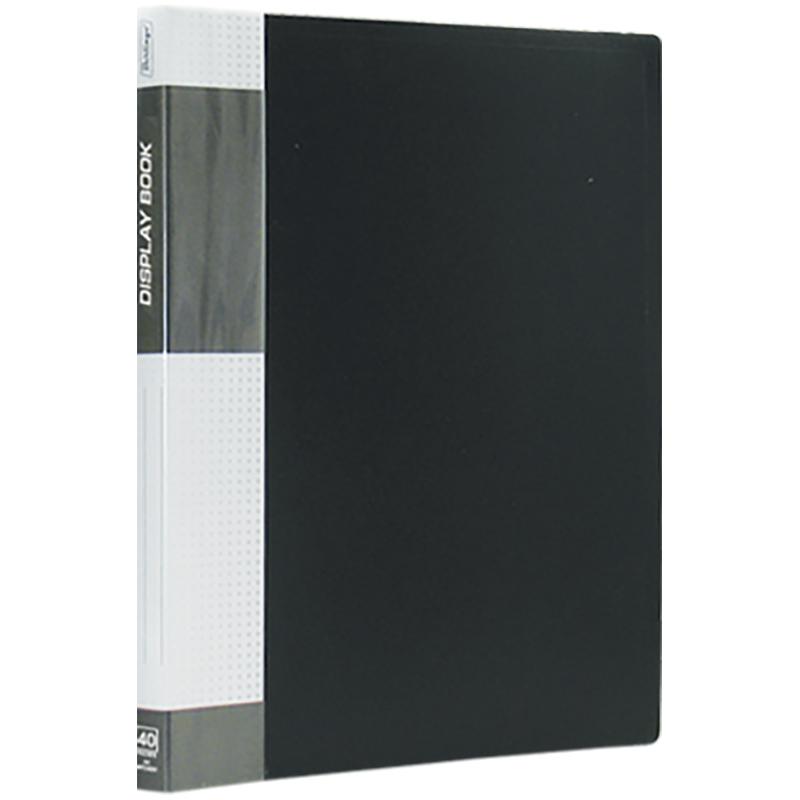 """Папка на 40 файлов, черная, торцевой карман, 600мкм """"Standard"""" (Berlingo)"""