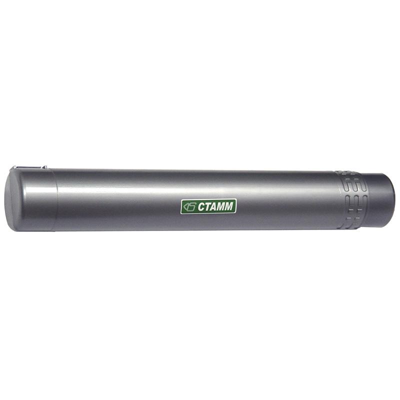 Тубус для чертежей А2, малый, д-65мм, длина-400-700мм, телескопический, серый (Стамм)