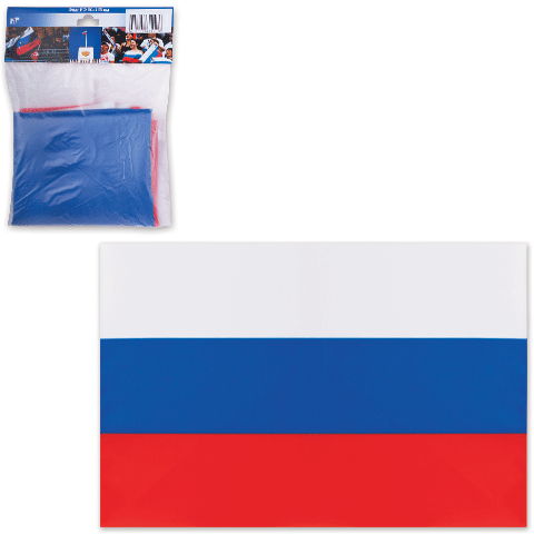 Флаг РФ 90х135см, шелк