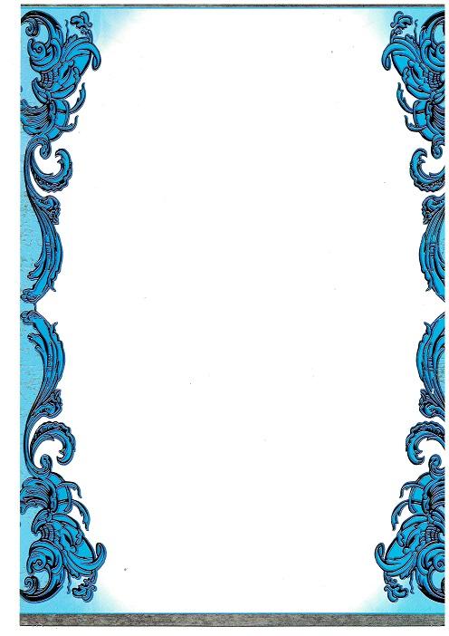 Грамота б/н голубая