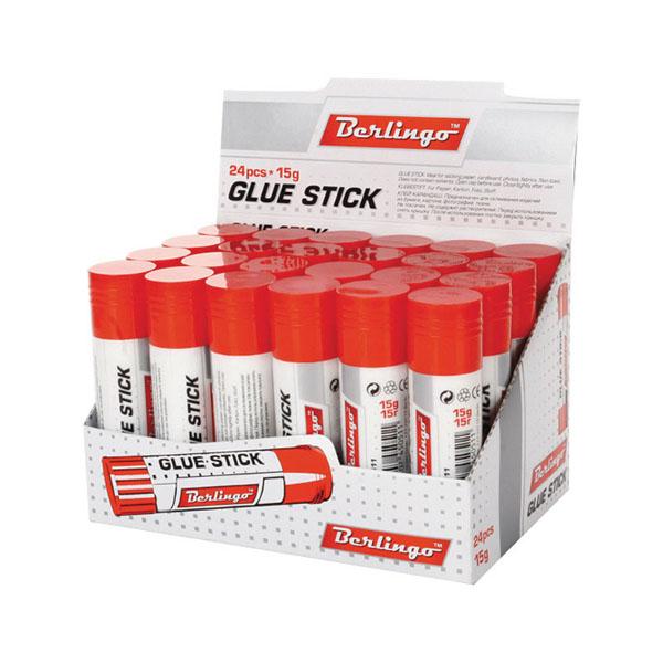 Клей-карандаш 15гр, 24шт/уп (Berlingo)