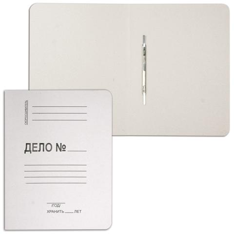 Скоросшиватель картонный 280г/м2, белый, немелованный 200шт/уп (Pancart)