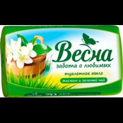 """Мыло туалетное 90гр ВЕСНА """"Жасмин и зелёный чай"""""""