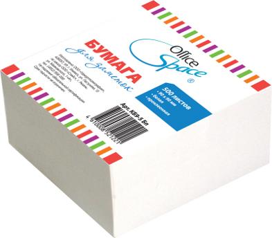 Блок д/записей 9х9х4,5см белый, проклееный (153172) 18шт/кор (OfficeSpace)