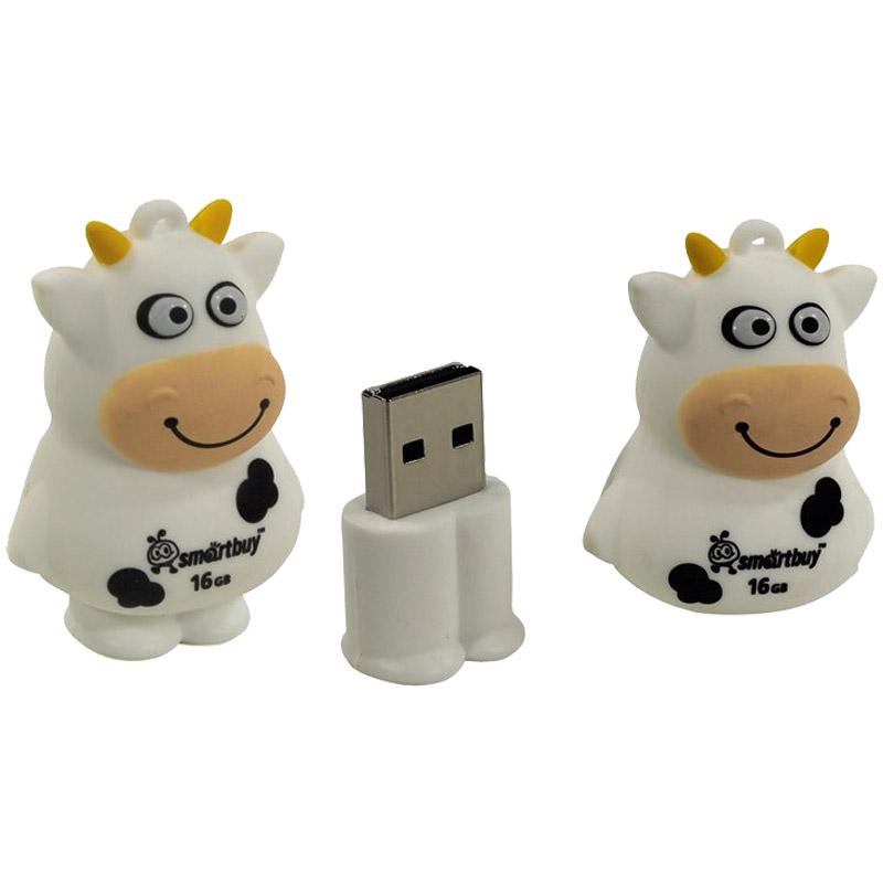 "Флэш-память 16ГБ, 2.0 Flash Drive, ""Wild series. Коровка "" (Smart Buy)"