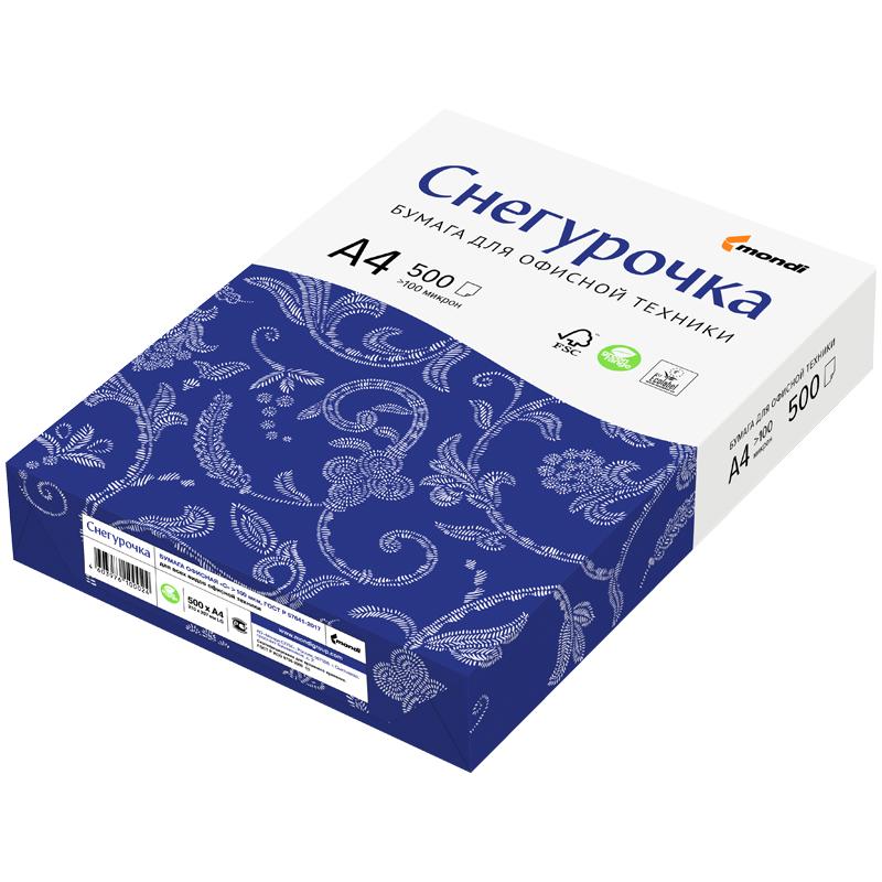 Бумага Снегурочка (А4, 80 г/кв.м, белизна 146% CIE, 500 листов, класс С)