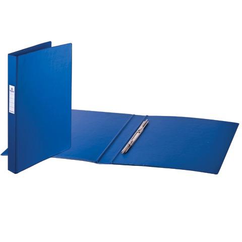 Папка-скоросшиватель А4, синяя, картон/ПВХ, 35 мм (BRAUBERG)