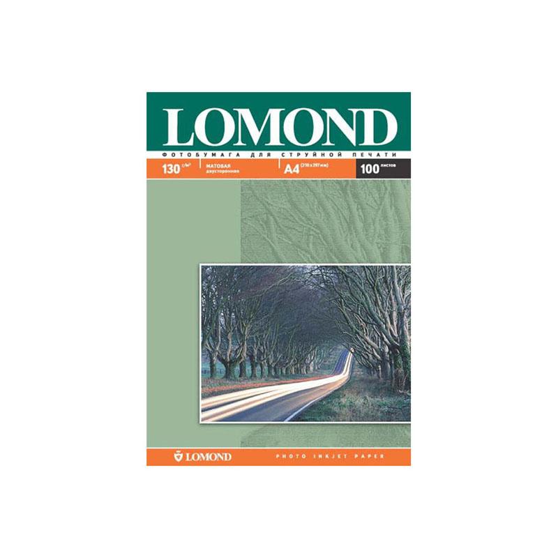 Фотобумага А4, 130гр, 100л матовая, 2-х сторонняя, д/струйных принтеров (LOMOND)