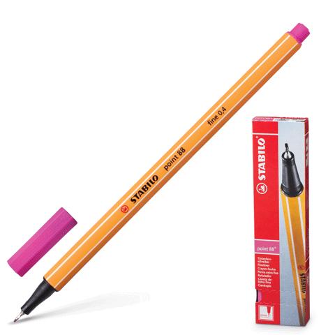 """Ручка капиллярная розовая, 0,4мм """"Point 88"""" 10шт/уп (Stabilo)"""
