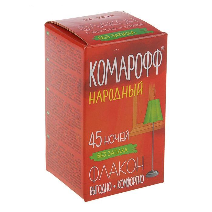 Жидкость от комаров Комарофф Народный 45 ночей, без запаха, флакон, 30 мл