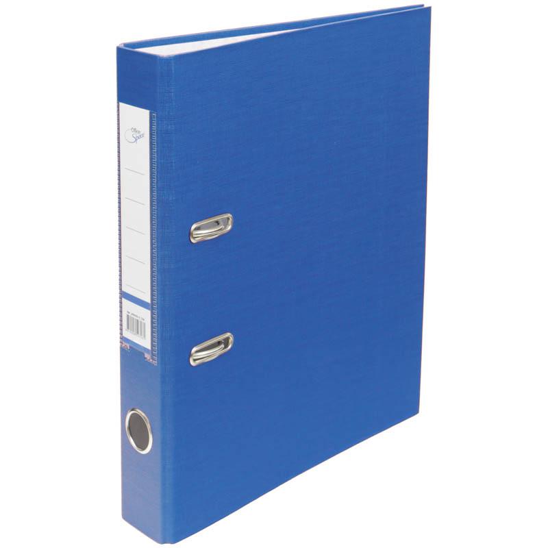 Пaпкa-регистратор 50мм, синяя, бумвинил, с карманом на корешке 10шт/кор (OfficeSpace)