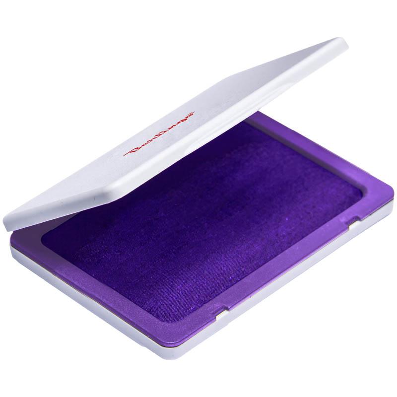 Штемпельная подушка 100х80мм, фиолетовая (Berlingo)