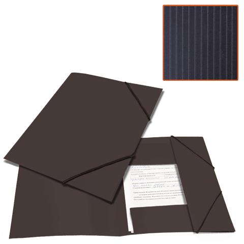"""Папка на резинках А4, черная, до 300 листов, 0,5мм """"Contract"""" (BRAUBERG)"""