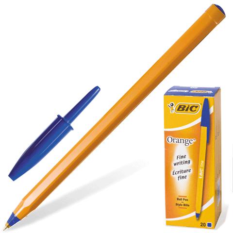 """Ручка шариковая синяя, 0,36мм , корпус оранжевый """"Orange"""" 20шт/уп (BIC)"""