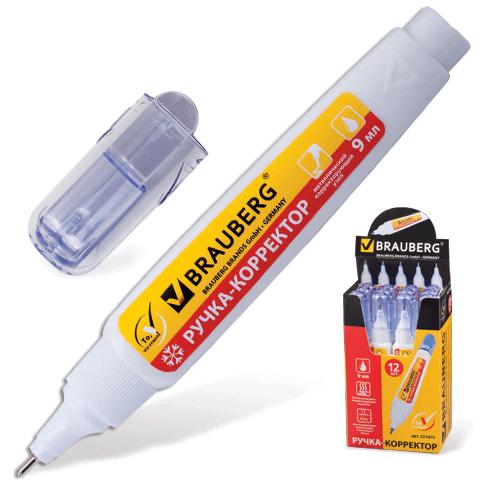 Штрих-карандаш 9мл, металлический наконечник 12шт/уп (BRAUBERG)