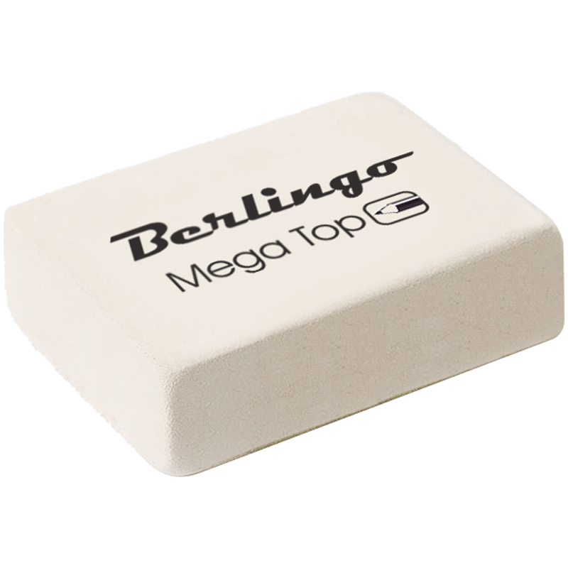 "Ластик 32х18х8, каучук, средний ""Mega Top"" 60шт/уп (Berlingo)"