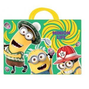 """Папка-сумка A4 с ручками, ткань """"Миньоны"""""""