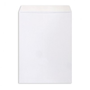 Конверт-пакет Е4 (300х400мм), белый, отрывная полоса 500шт/уп (Businesspack)