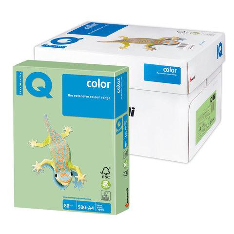 """Бумага А4, 80г/м2, 500л, зеленый пастель (MG28) """"Color pale"""" 5шт/кор (IQ Color)"""