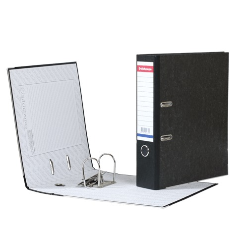 Папка-регистратор 70мм, мрамор, черный корешок 20шт/уп (ERICH KRAUSE)