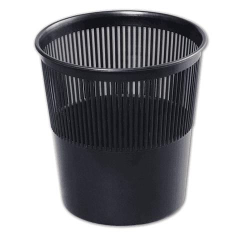 Корзина для бумаг 9л, сетчатая, черная (Стамм)