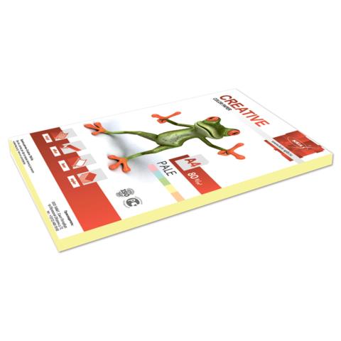 """Бумага А4, 80г/м2, 100л, желтый пастель (БПpr-100ж) """"Color"""" (CREATIVE)"""