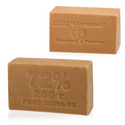 Мыло хозяйственное 72%, 200г (Меридиан), без упаковки, ш/к транспортной упаковки 90255