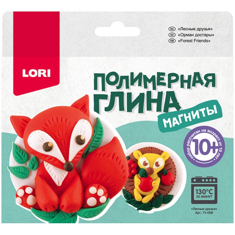 """Набор для изготовления магнитов из полимерной глины """"Лесные друзья"""" (Lori)"""