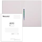 Скоросшиватель картонный 300г/м2, белый, до 200л., 200шт/уп (Brauberg)