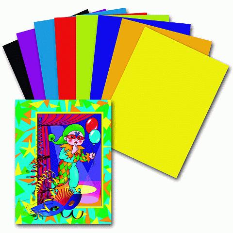 """Цветная бумага А4, 8 цветов, 16 листов, """"Гномик на карнавале"""" (ПИФАГОР)"""