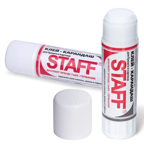 Клей-карандаш 21гр, 24шт/уп (STAFF)