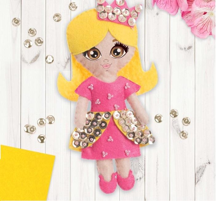 """Игрушка из фетра, кукла """"Принцесса"""""""