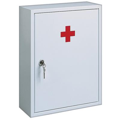 Сейф аптечка со стекл.дверцей и полкой300х390х120 (Joma)