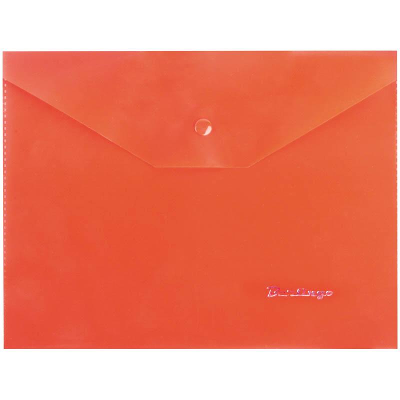 Папка-конверт на кнопке A5, красная, 180мкм 10шт/уп (Berlingo)