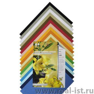 Обложка д/переплета А3, картонная (кожа) желтая, 100л/уп (РеалИСТ)