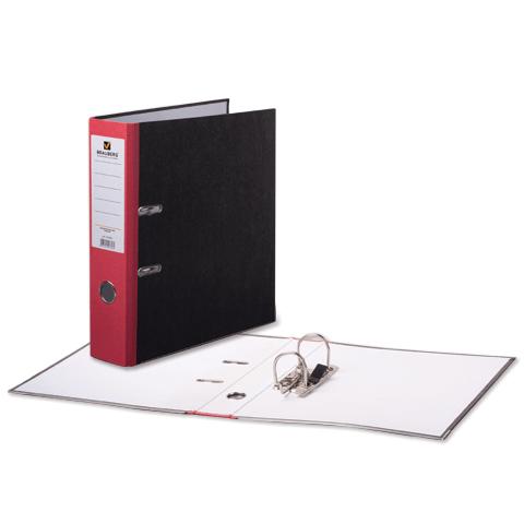 Папка-регистратор 75мм, мраморное покрытие, красный корешок 20шт/уп (BRAUBERG)