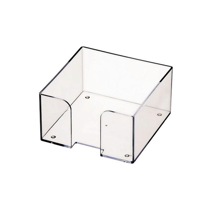 Бокс для бумажного блока 9х9х5см, прозрачный 24шт/уп (Стамм)