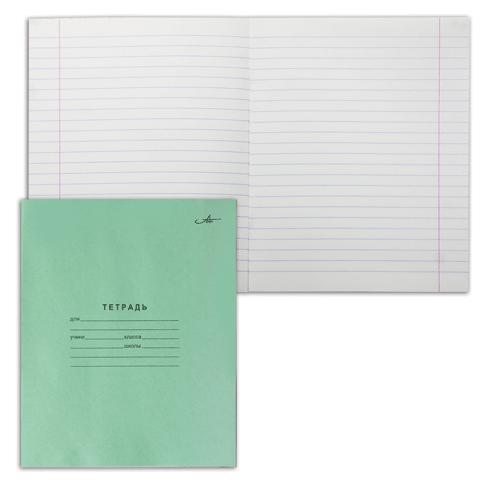 Тетрадь А5, 12л, линия, зеленая обложка 420шт/уп (Арх.ЦБК)